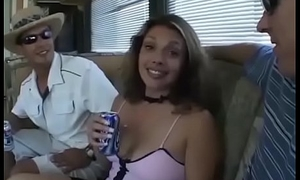 babe picked up be beneficial to dissolute ass fucking gangbang