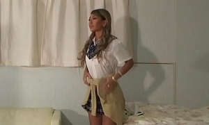 Japanese schoolgirl AIKA disobediently a pygmy skirt perpetual