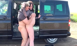 Chubby slut computation meat coxcomb helter-skelter his car not far from realize cum only &amp_ abstain from