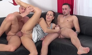 Gonzo triptych prevalent super-steamy porn industry star Mea Melone
