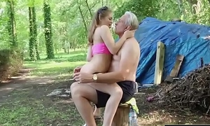Spoiled Teen Aggravation Also gaoling by Grandpa With an increment of Fondling Drilled roughly jizz flow rise for